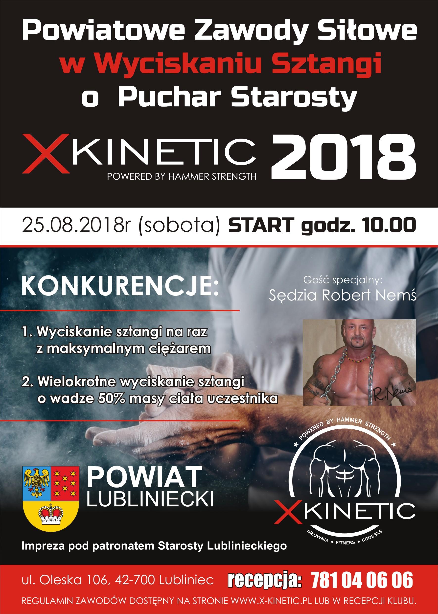 zawody na siłowni xkinetic Lubliniec
