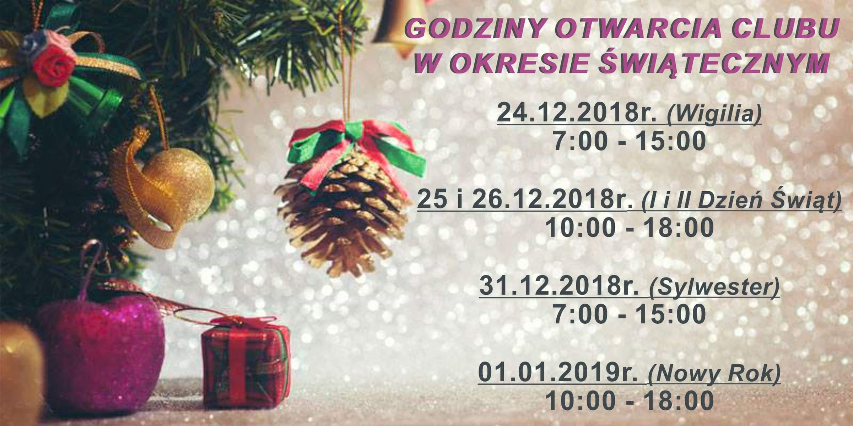 godziny otwarcia okres świąteczny