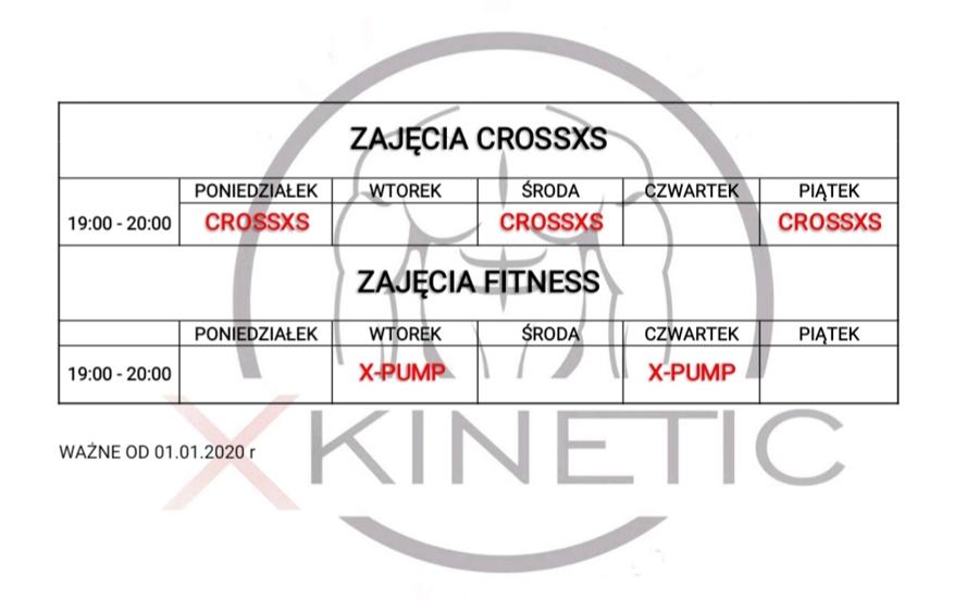 Grafik i cennik X-Kinetic 2020